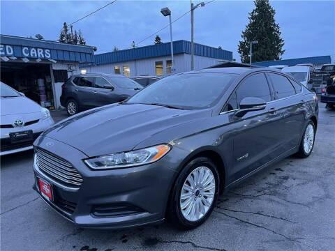 2016 Ford Fusion Hybrid for sale at Real Deal Cars in Everett WA