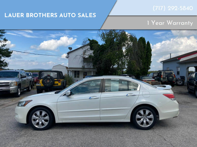2008 Honda Accord for sale at LAUER BROTHERS AUTO SALES in Dover PA