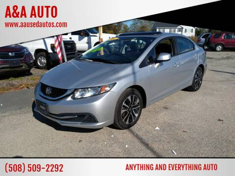 2013 Honda Civic for sale at A&A AUTO in Fairhaven MA