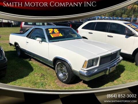 1978 Chevrolet El Camino for sale at Smith Motor Company INC in Mc Cormick SC
