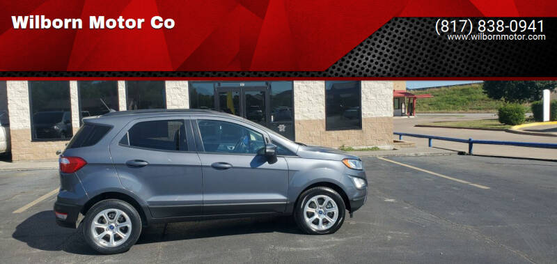 2019 Ford EcoSport for sale at Wilborn Motor Co in Fort Worth TX