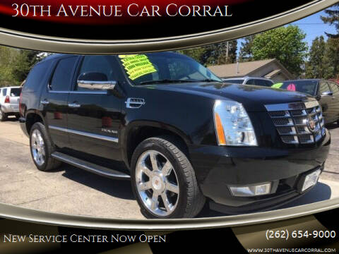 2013 Cadillac Escalade for sale at 30th Avenue Car Corral in Kenosha WI