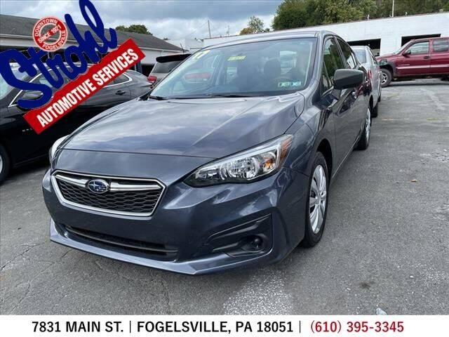 2017 Subaru Impreza for sale at Strohl Automotive Services in Fogelsville PA