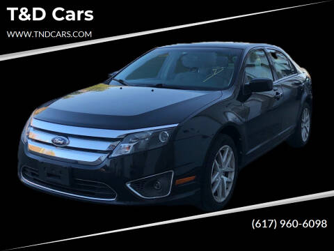 2012 Ford Fusion for sale at T&D Cars in Holbrook MA
