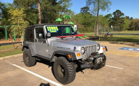 2004 Jeep Wrangler for sale at B & M Car Co in Conroe TX