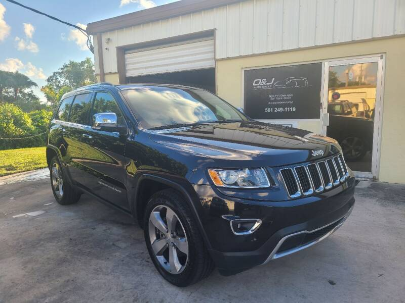 2014 Jeep Grand Cherokee for sale at O & J Auto Sales in Royal Palm Beach FL
