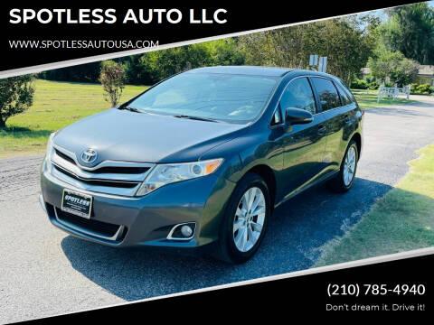 2013 Toyota Venza for sale at SPOTLESS AUTO LLC in San Antonio TX