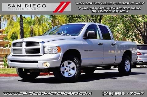 2002 Dodge Ram Pickup 1500 for sale at San Diego Motor Cars LLC in San Diego CA