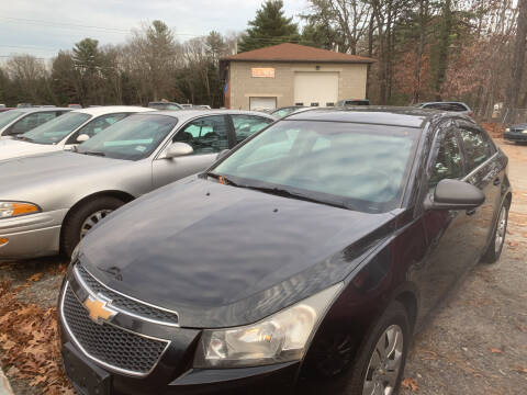 2012 Chevrolet Cruze for sale at Official Auto Sales in Plaistow NH