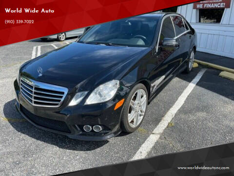 2010 Mercedes-Benz E-Class for sale at World Wide Auto in Fayetteville NC