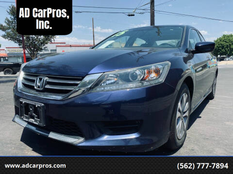 2015 Honda Accord for sale at AD CarPros, Inc. in Whittier CA