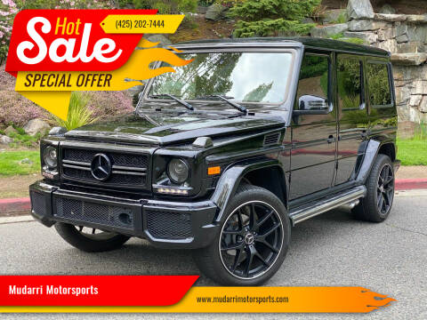2013 Mercedes-Benz G-Class for sale at Mudarri Motorsports in Kirkland WA