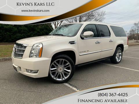 2013 Cadillac Escalade ESV for sale at Kevin's Kars LLC in Richmond VA