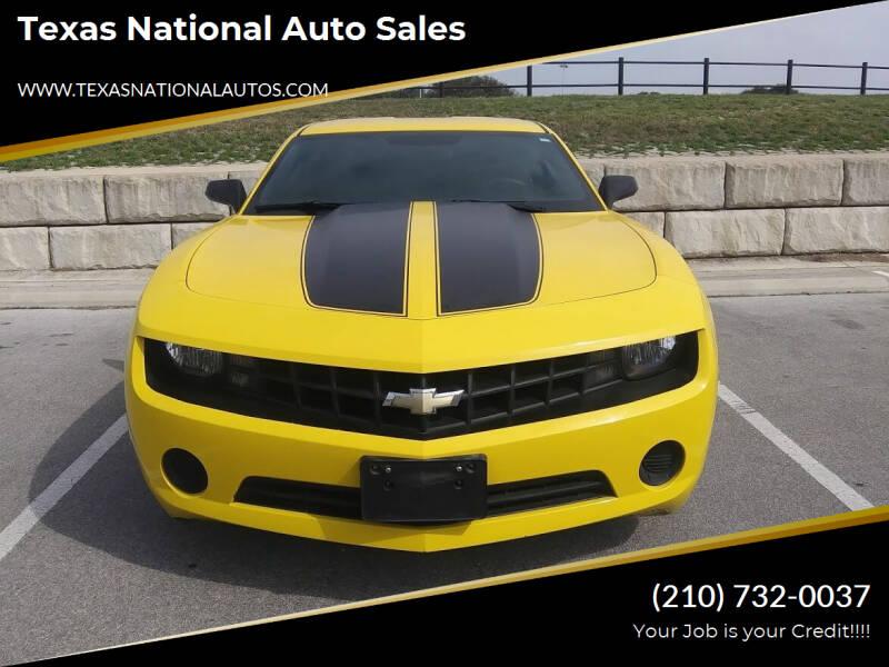 2012 Chevrolet Camaro for sale at Texas National Auto Sales in San Antonio TX