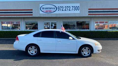 2011 Chevrolet Impala for sale at Traditional Autos in Dallas TX