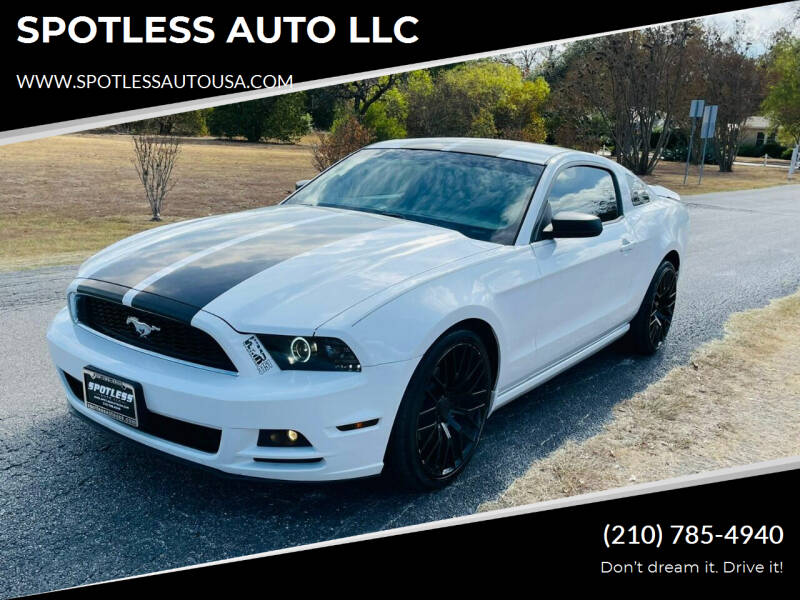 2014 Ford Mustang for sale at SPOTLESS AUTO LLC in San Antonio TX