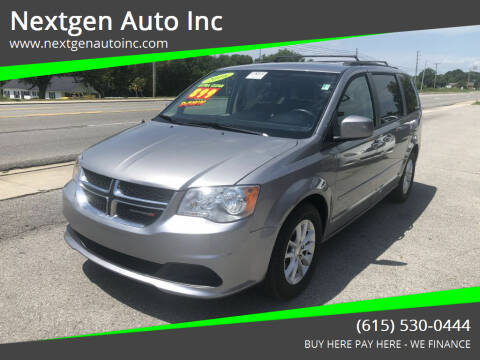 2016 Dodge Grand Caravan for sale at Nextgen Auto Inc in Smithville TN
