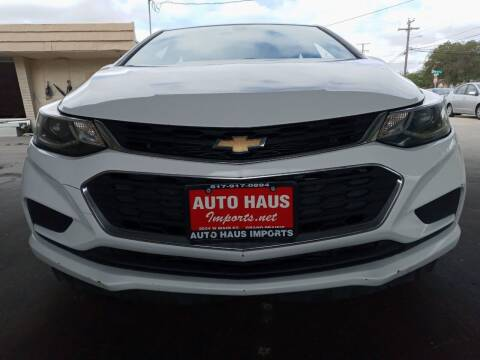 2017 Chevrolet Cruze for sale at Auto Haus Imports in Grand Prairie TX