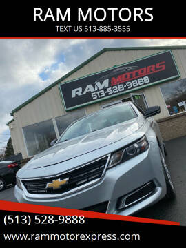 2014 Chevrolet Impala for sale at RAM MOTORS in Cincinnati OH