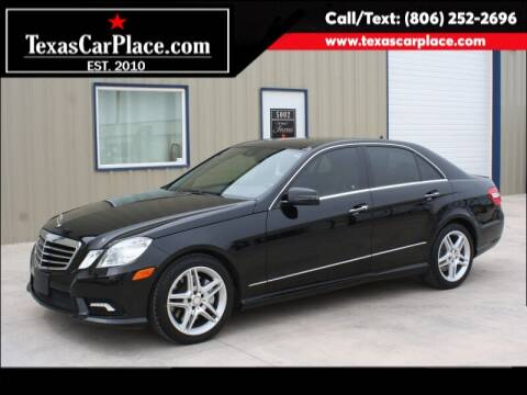 2011 Mercedes-Benz E-Class for sale at TEXAS CAR PLACE in Lubbock TX