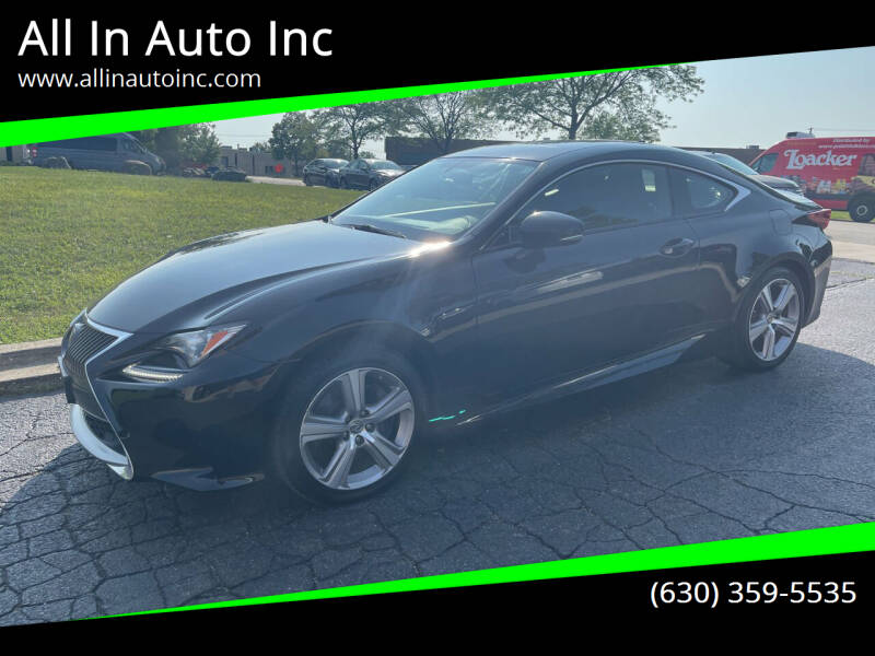 2015 Lexus RC 350 for sale at All In Auto Inc in Palatine IL