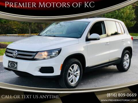 2013 Volkswagen Tiguan for sale at Premier Motors of KC in Kansas City MO