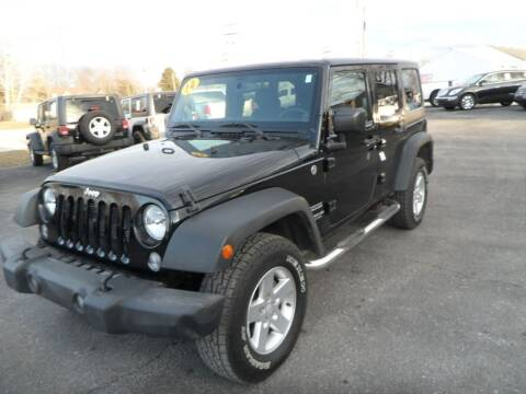 2014 Jeep Wrangler Unlimited for sale at CARSON MOTORS in Cloverdale IN
