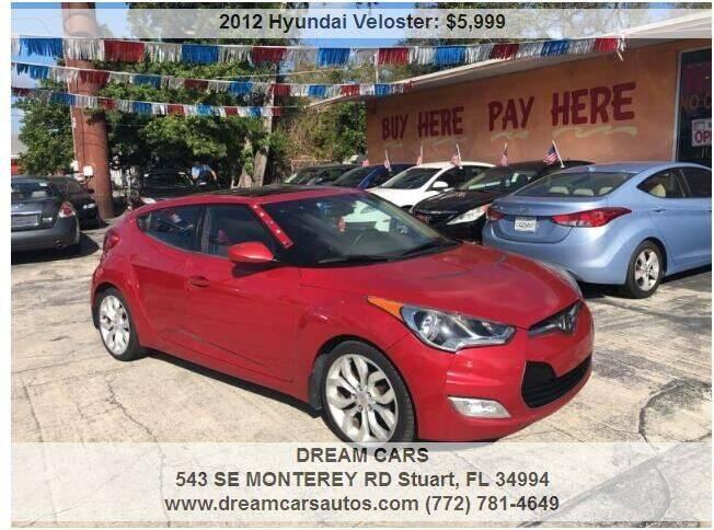 2012 Hyundai Veloster for sale at DREAM CARS in Stuart FL