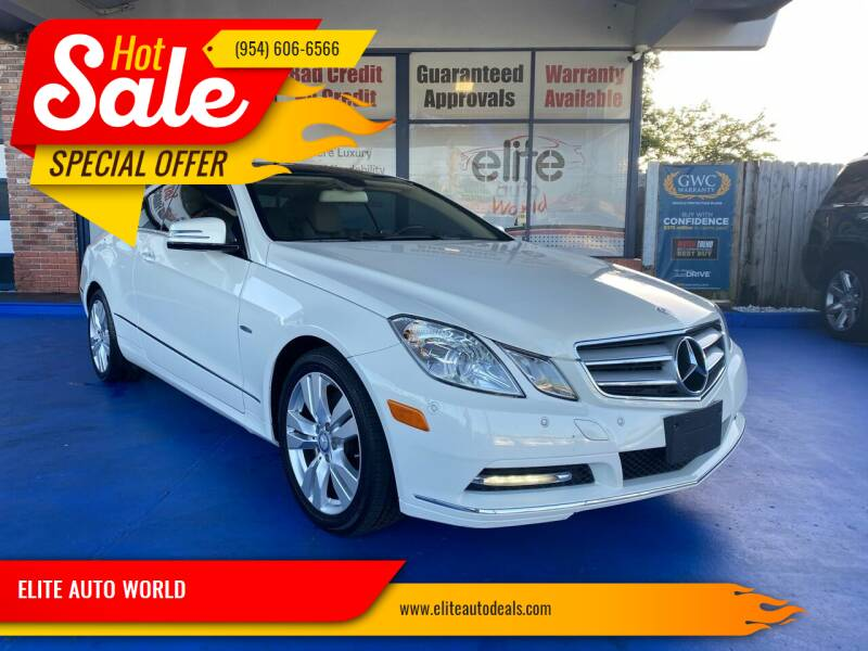 2012 Mercedes-Benz E-Class for sale at ELITE AUTO WORLD in Fort Lauderdale FL