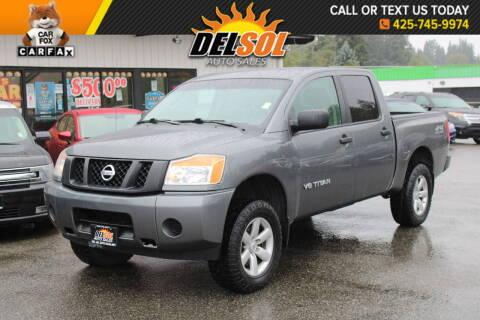 2014 Nissan Titan for sale at Del Sol Auto Sales in Everett WA