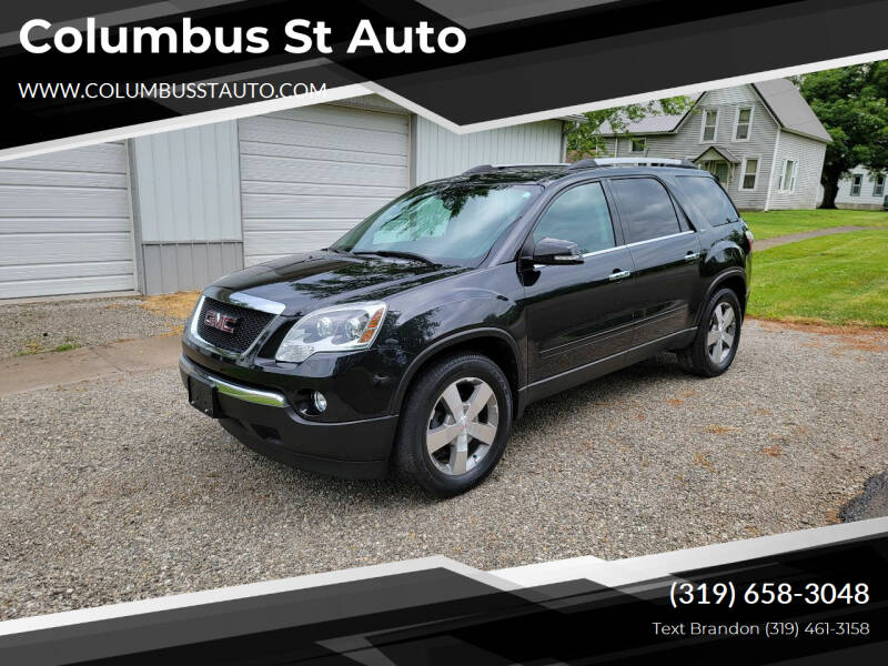 2012 GMC Acadia for sale at Columbus St Auto in Crawfordsville IA