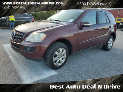 2006 Mercedes-Benz M-Class for sale at Best Auto Deal N Drive in Hollywood FL