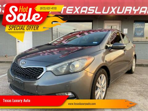 2014 Kia Forte for sale at Texas Luxury Auto in Cedar Hill TX