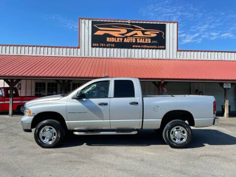 2005 Dodge Ram Pickup 2500 for sale at Ridley Auto Sales, Inc. in White Pine TN