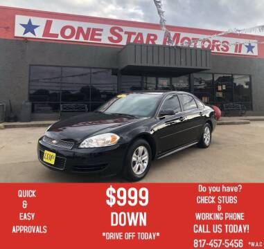 2015 Chevrolet Impala Limited for sale at LONE STAR MOTORS II in Fort Worth TX