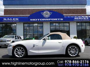 2006 BMW Z4 for sale at Highline Group Motorsports in Lowell MA