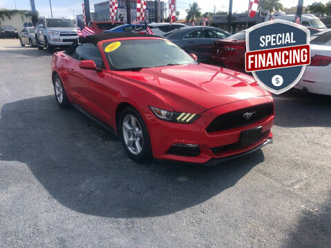 2017 Ford Mustang for sale at MACHADO AUTO SALES in Miami FL
