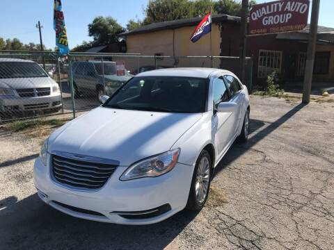 2012 Chrysler 200 for sale at Quality Auto Group in San Antonio TX