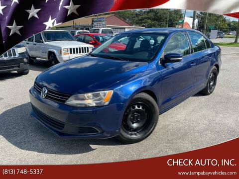 2012 Volkswagen Jetta for sale at CHECK AUTO, INC. in Tampa FL