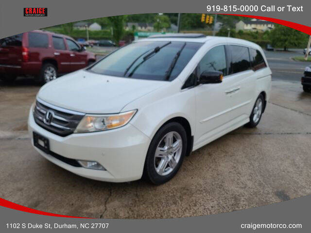 2012 Honda Odyssey for sale at CRAIGE MOTOR CO in Durham NC