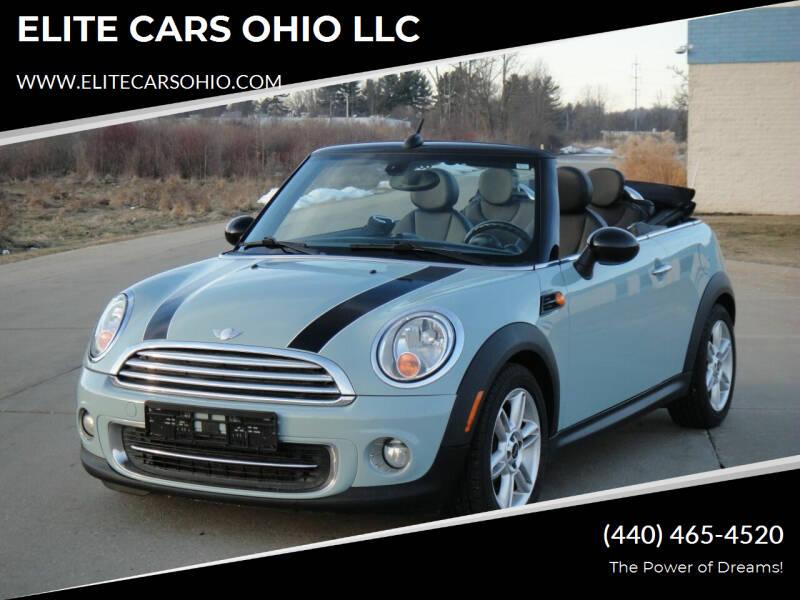 2012 MINI Cooper Convertible for sale at ELITE CARS OHIO LLC in Solon OH