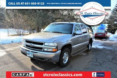 2003 Chevrolet Suburban for sale at St. Croix Classics in Lakeland MN