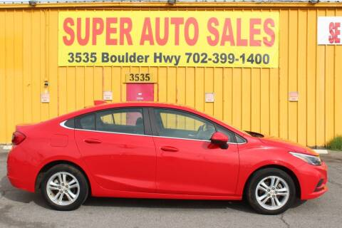 2018 Chevrolet Cruze for sale at Super Auto Sales in Las Vegas NV