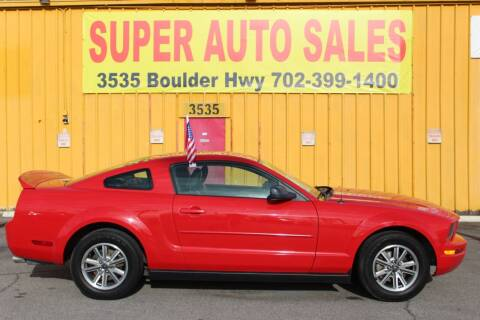 2005 Ford Mustang for sale at Super Auto Sales in Las Vegas NV