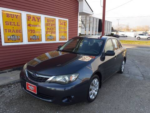 2008 Subaru Impreza for sale at Mack's Autoworld in Toledo OH