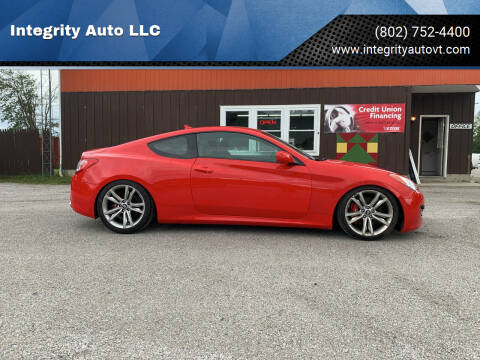 2012 Hyundai Genesis Coupe for sale at Integrity Auto LLC in Sheldon VT