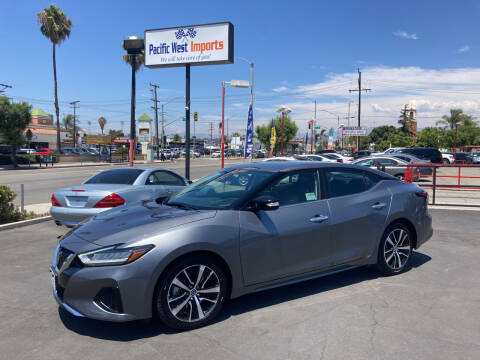 2021 Nissan Maxima for sale at Pacific West Imports in Los Angeles CA