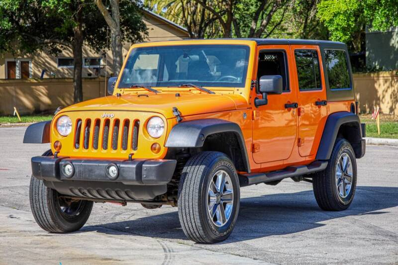 2012 Jeep Wrangler Unlimited for sale at Easy Deal Auto Brokers in Hollywood FL