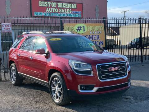 2013 GMC Acadia for sale at Best of Michigan Auto Sales in Detroit MI