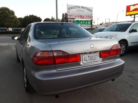 2000 Honda Accord for sale at Goleta Motors in Goleta CA